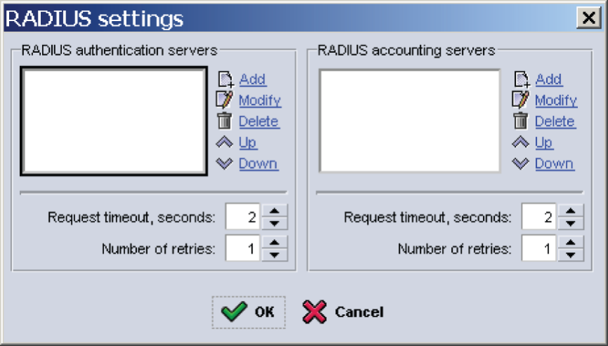 Using CHAP Accounts on a RADIUS Authentication Server