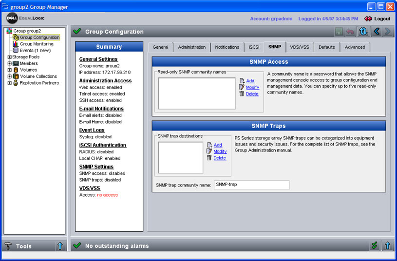 Configuring SNMP Access to a Group